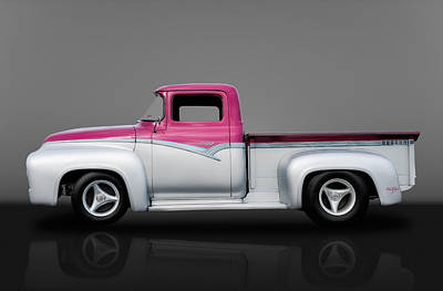 1956 Ford F100 Pickup Truck Poster by Frank J Benz