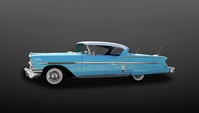 1958 Chevrolet El Air Impala Sport Coupe  -  58chimsc745 Poster by Frank J Benz