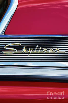 1959 Ford Skyliner Abstract Poster by Tim Gainey
