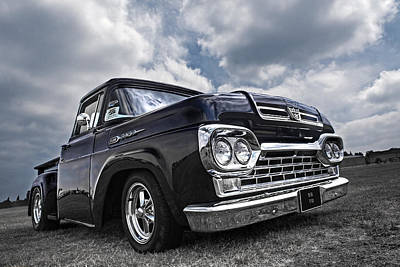 1960 Ford F100 Truck Poster by Gill Billington
