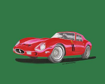 1962 Ferrari Gto Especial Poster by Jack Pumphrey