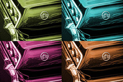 1963 Chevrolet Impala Ss Offset Colors Poster by Gordon Dean II