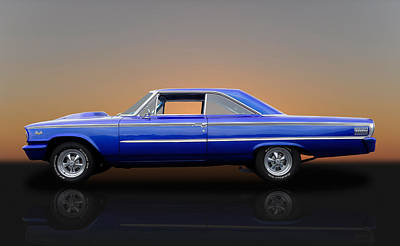 1963 Ford Galaxie 500 - 406 Tri-power Poster by Frank J Benz
