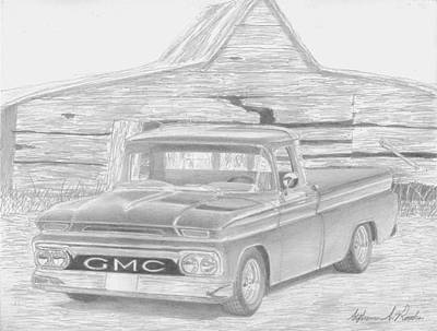 1963 Gmc Pickup Truck Art Print Poster by Stephen Rooks