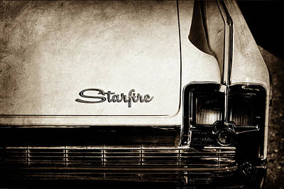 1963 Oldsmobile Starfire Taillight Emblem -046s Poster by Jill Reger