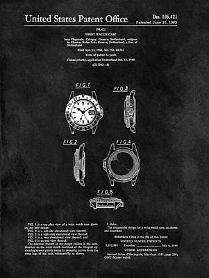 1963 Rolex Watch Poster by Dan Sproul