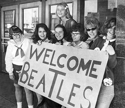 1964 Beatles Fans Poster by Underwood Archives