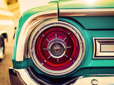 Ford Motor Company Poster featuring the photograph 1964 Ford Galaxie 500 Xl Tail Light by Jon Woodhams