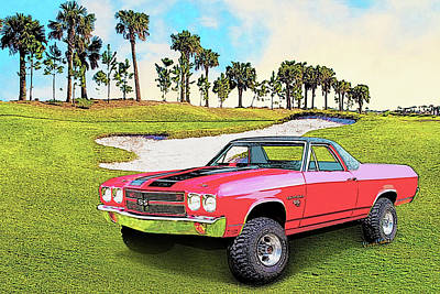1970 Chevy El Camino 4x4 Not 2nd Generation 1964-1967 Poster by Chas Sinklier
