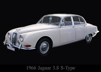 1966 Jaguar 3.8 S Type Poster by Chris Flees
