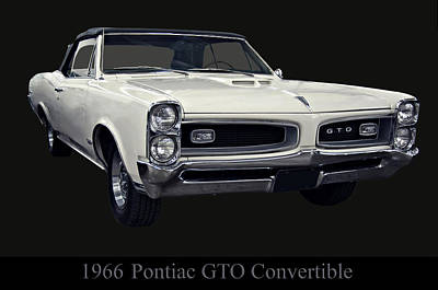 1966 Pontiac Gto Convertible Poster by Chris Flees