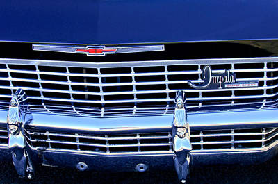 1968 Chevrolet Impala Ss Grille Emblem Poster by Jill Reger