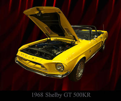 1968 Shelby Gt 500kr Poster by Chris Flees
