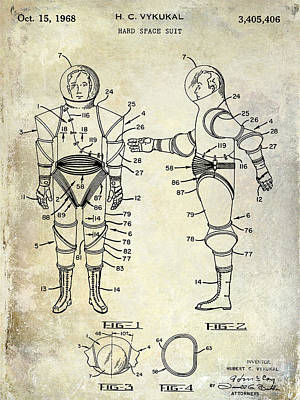 1968 Space Suit Patent Poster by Jon Neidert