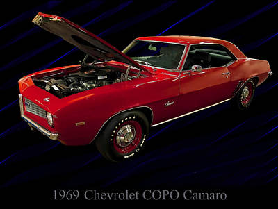 1969 Chevy Camaro Copo 427 Poster by Chris Flees