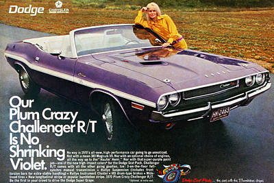 1970 Dodge Challenger Rt Convertible Poster by Digital Repro Depot