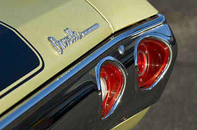 1971 Chevrolet Chevelle Malibu Ss Tail Light Poster by Jill Reger