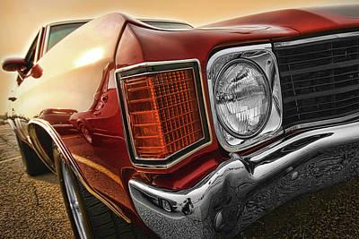 1972 Chevrolet Chevelle Ss  Poster by Gordon Dean II