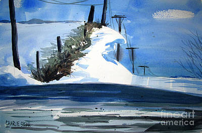 1978 Fourteen Foot Snow Drifts Double Matted Poster by Charlie Spear