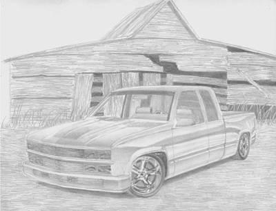 1994 Chevrolet 1500 Pickup Truck Art Print Poster by Stephen Rooks
