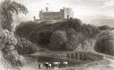 19th Century View Of Belvoir Castle Poster by Vintage Design Pics