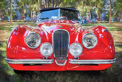 1954 Jaguar Xk 120 Se Ots Poster by Rich Franco