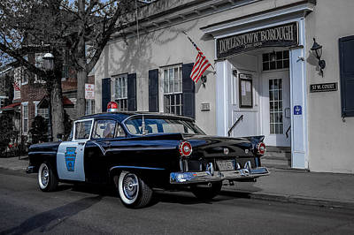 1957 Doylestown Borough Police Cruiser Poster by Michael Brooks