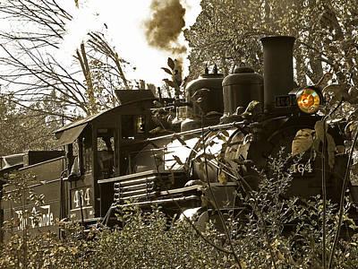 2-8-2 Steam Locomotive 2 Poster by Scott Hovind
