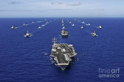 Aircraft Carrier Uss Ronald Reagan Poster by Stocktrek Images