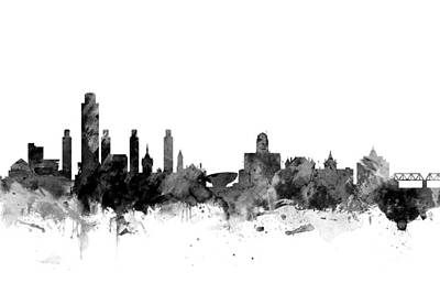 Albany New York Skyline Poster by Michael Tompsett