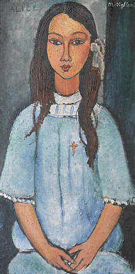 Alice Poster by Amedeo Modigliani