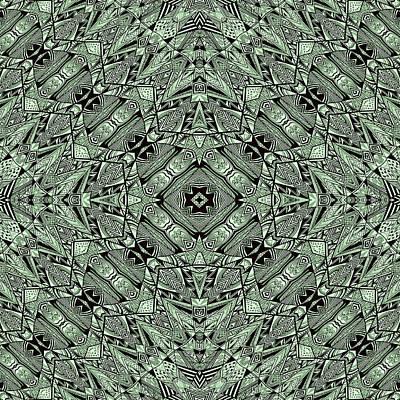 Aztec Navajo Pattern Background Poster by Nenad Cerovic