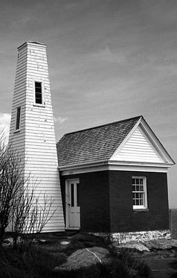 Bell Tower At Pemaquid Poster by Skip Willits