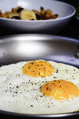 Breakfast Of Fried Eggs Poster by Donald  Erickson