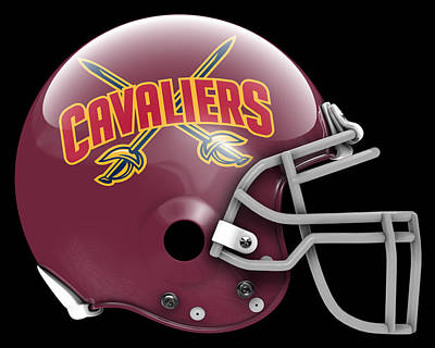 Cavaliers What If Its Football Poster by Joe Hamilton