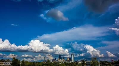 Charlotte North Carolina City Skyline Poster by Alex Grichenko