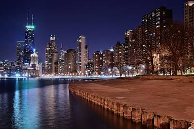 Chicago From The North Poster by Frozen in Time Fine Art Photography
