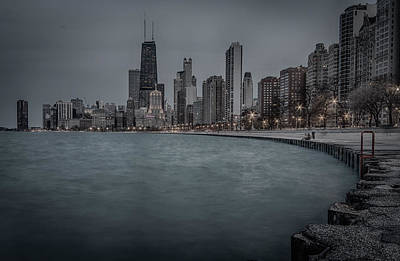 Chicago Skyline Poster by Mike Burgquist
