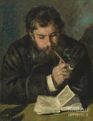 Claude Monet Poster by Pierre Auguste Renoir