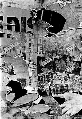 Collage Circus Acts Us Mexico Border Town Juarez Chihuahua Mexico 1968  Poster by David Lee Guss