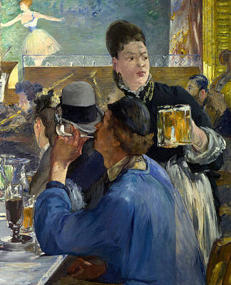Corner Of A Cafe Concert Poster by Edouard Manet