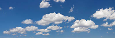 Cumulus Clouds And Blue Sky Poster by Panoramic Images