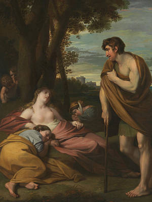 Cymon And Iphigenia Poster by Benjamin West
