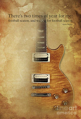 Darius Rucker Inspirational Quote, Electric Guitar Poster For Music Lovers And Musicians Poster by Pablo Franchi