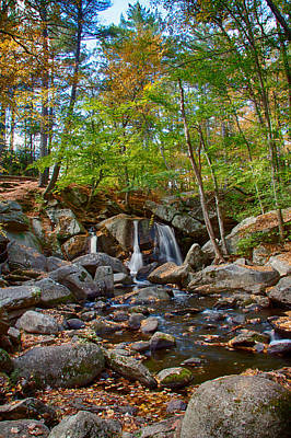 Fall Colors Over Trap Falls In Ashby Massachusetts Poster by Jeff Folger