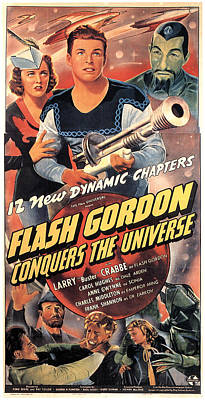 Flash Gordon Conquers The Universe Poster by Everett