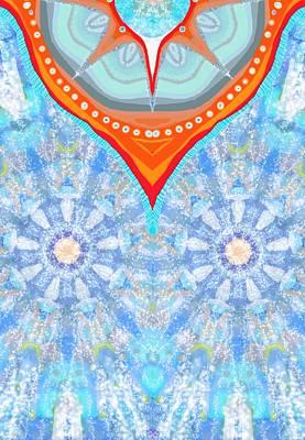 Floral Poncho Poster by Sandrine Kespi