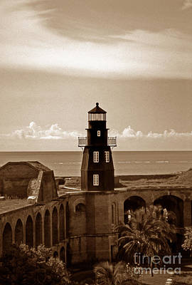 Fort Jefferson Lighthouse Poster by Skip Willits