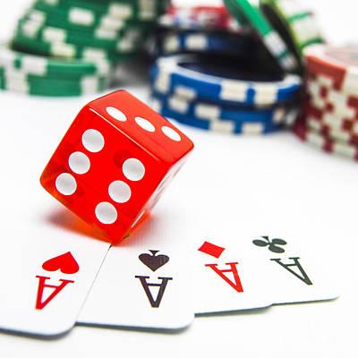 Four Aces And Gambling Poster by Bernard Jaubert