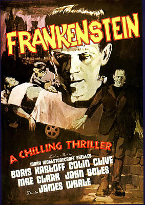 Frankenstein, Boris Karloff, 1931 Poster by Everett